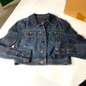 Calvin Klein Jeans Women Denim Cropped Jacket LRG